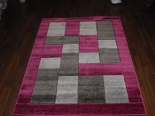 RUGS HAND CARVED PURPLE/GREYS 120X170CM APROX 6FTX4FT SUPER QUALITY BLOCKS